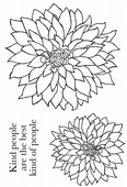 Woodware - Bold Blooms Delilah - Clear Magic Stamp Set - JGS513